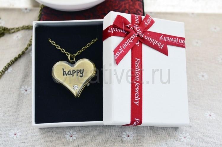 Упаковка кулон сердечко часы