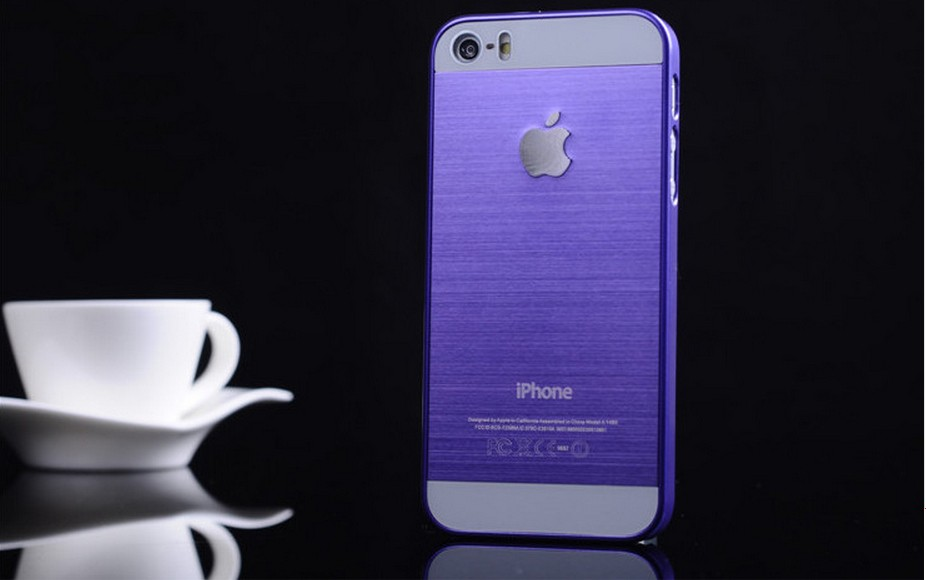 Чехол для iPhone 4, 4S, 5, 5S стальной расцветки синий цвет