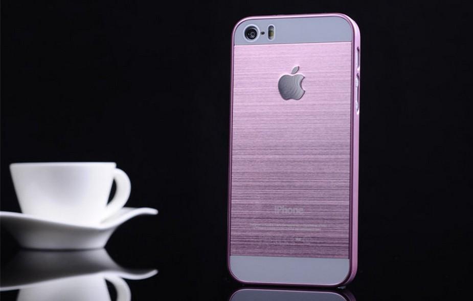 Чехол для iPhone 4, 4S, 5, 5S стальной расцветки фиолетовый