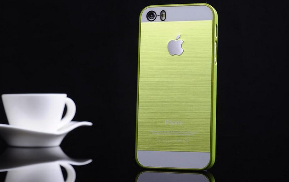 Чехол для iPhone 4, 4S, 5, 5S стальной расцветки оливковый цвет