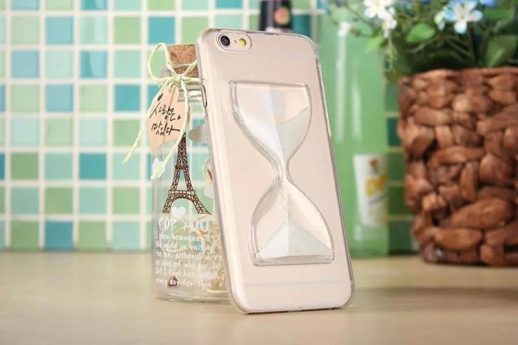 Чехол в виде песочных часов для iPhone 6 - белый