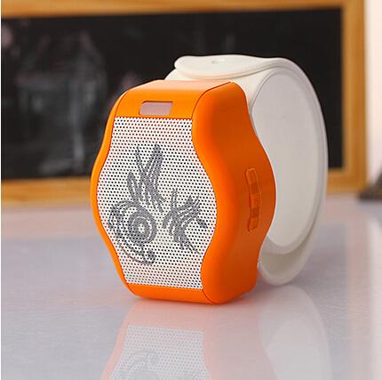 Стерео динамик для руки белого цвета и оранжевого