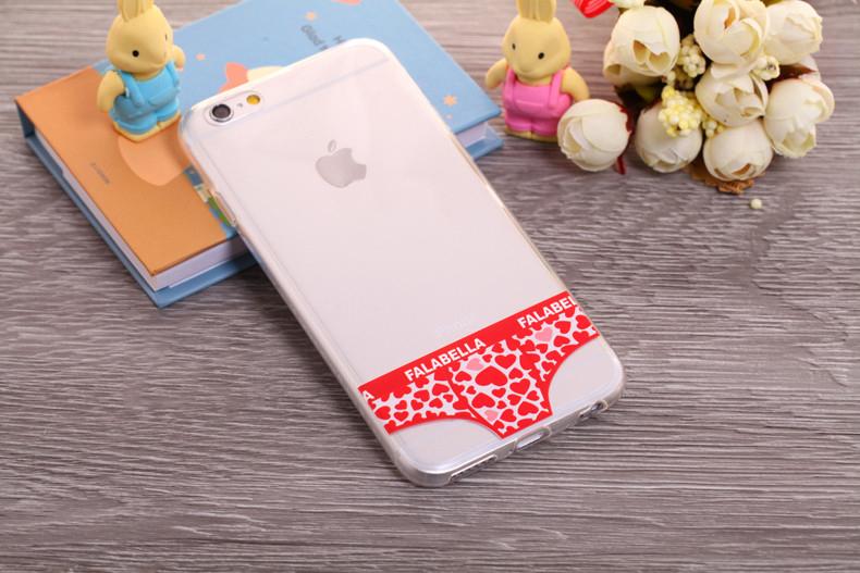 Чехлы трусики для iPhone 6 plus красное сердечко мужские
