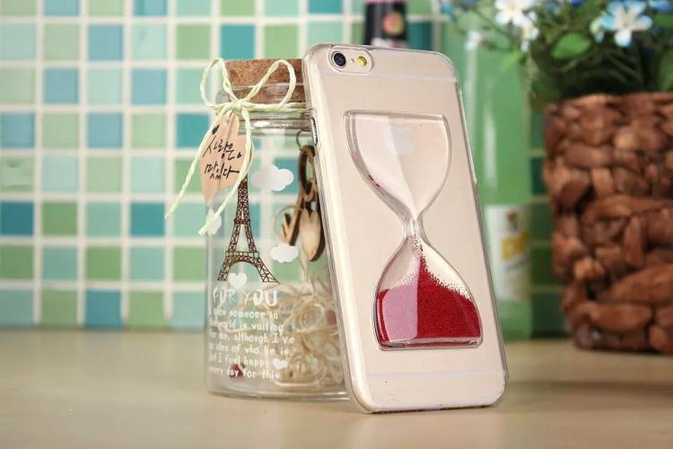 Чехол в виде песочных часов для iPhone 6 - красный