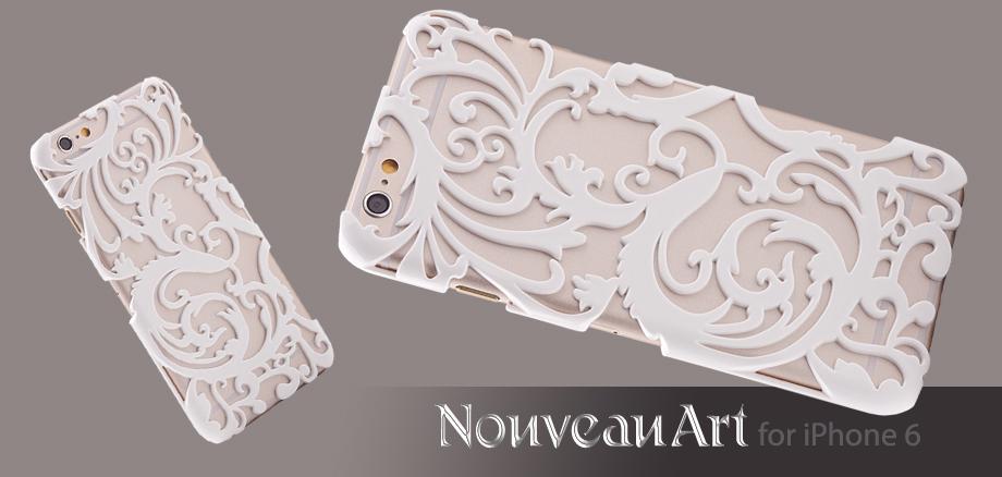 Художественный Nouveau ART iPhone 6 чехол белый стиль