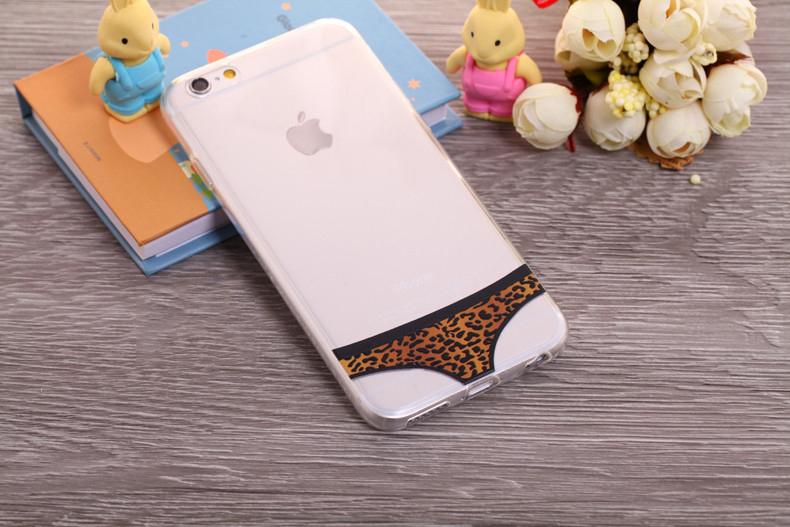 Чехлы трусики для iPhone 6 plus леопардовые женские