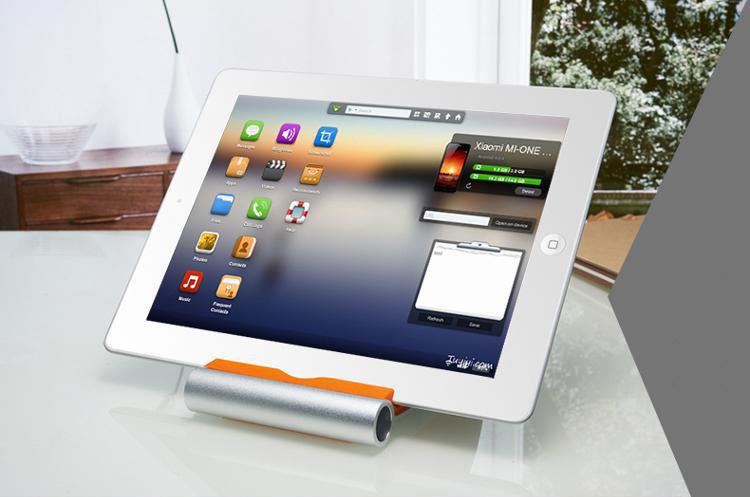 Держатель подставка AIO для планшетов и смартфонов с белым планшетом