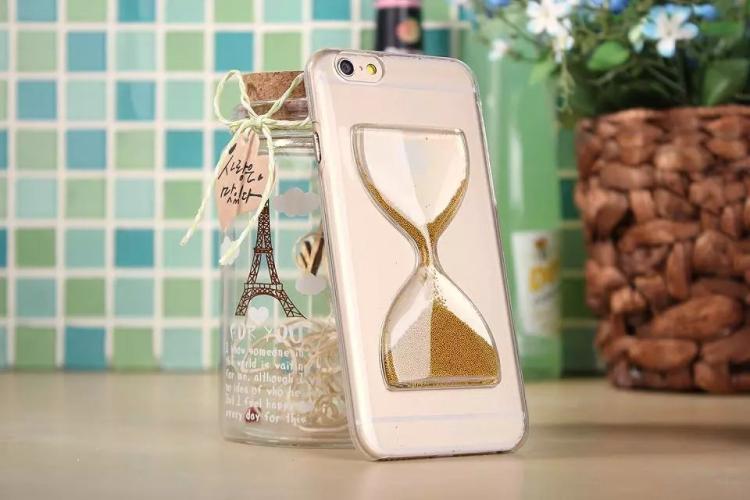 Чехол в виде песочных часов для iPhone 6 - золотой цвет