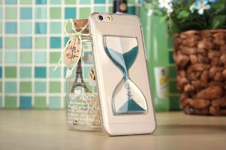 Чехол в виде песочных часов для iPhone 6 - темно зеленый