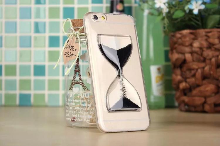 Чехол в виде песочных часов для iPhone 6 - черный
