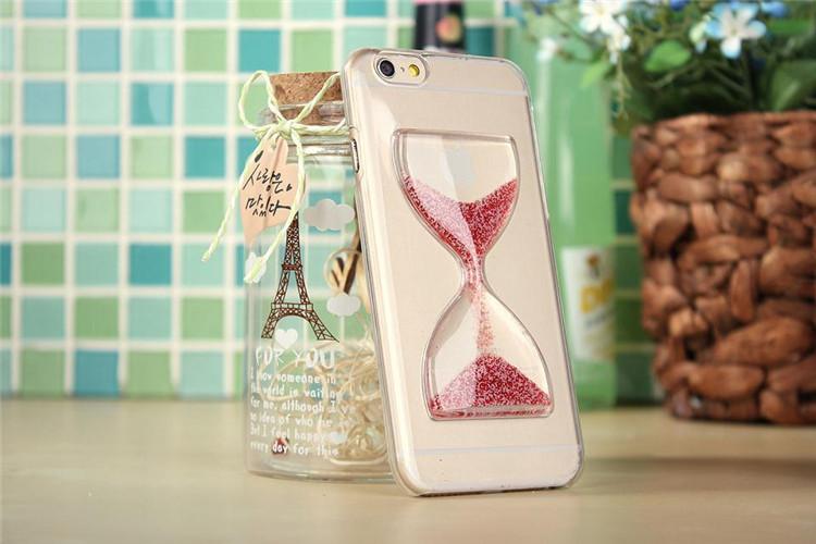 Чехол в виде песочных часов для iPhone 6 - розовый