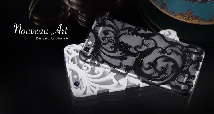 Художественный Nouveau ART iPhone 6 чехол белый с черным вместе