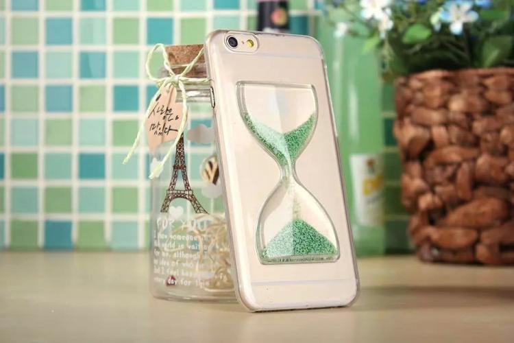 Чехол в виде песочных часов для iPhone 6 - светло зеленый