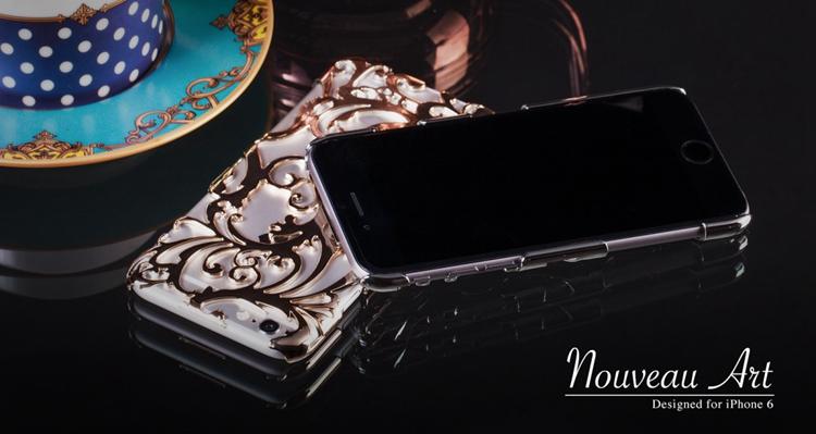 Художественный Nouveau ART iPhone 6 чехол золотой вместе с лицевой стороной iPhone