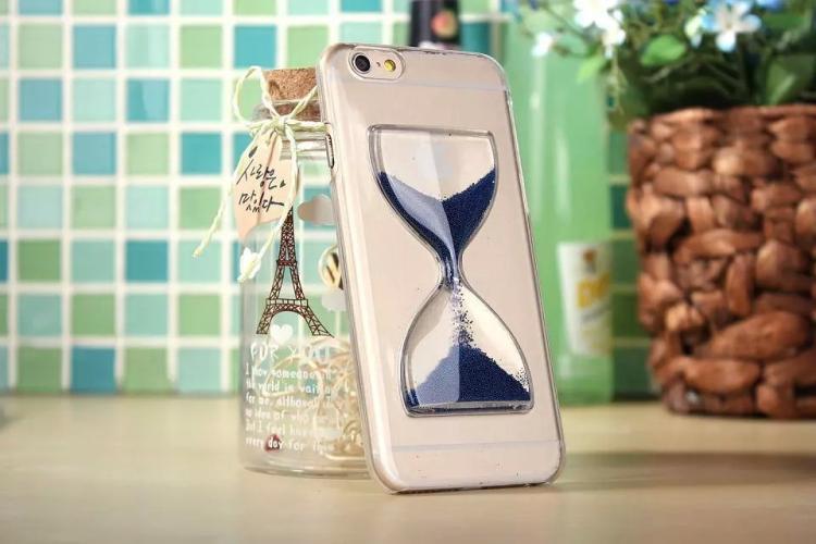 Чехол в виде песочных часов для iPhone 6 - темно синий
