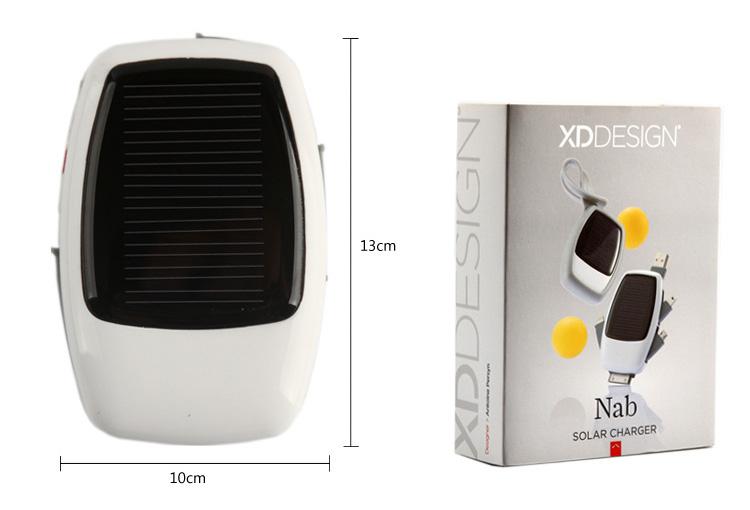 Зарядное устройство XD Design Nab на солнечных батареях размеры