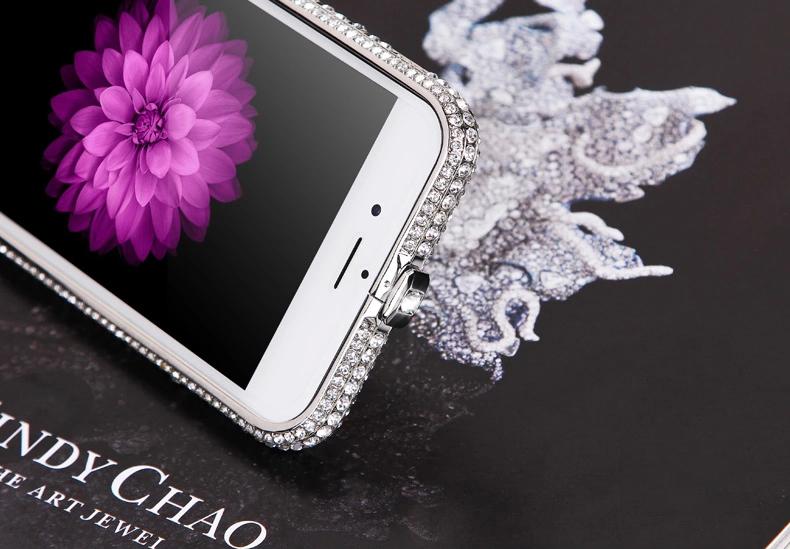 Чехол для iPhone 5, 6 ручной работы. Германская технология. Со стразами.