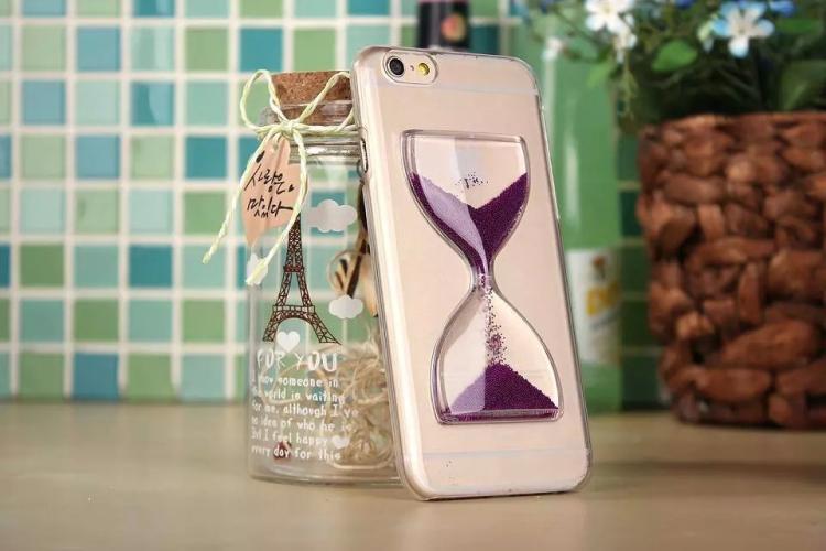 Чехол в виде песочных часов для iPhone 6 - фиолетовый цвет