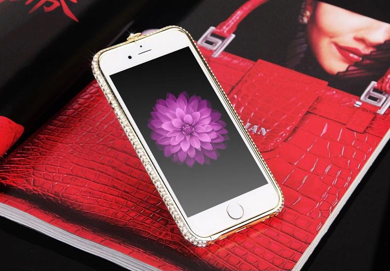 Чехол для iPhone 5, 6 ручной работы. Германская технология. Со стразами. Демонстрация.