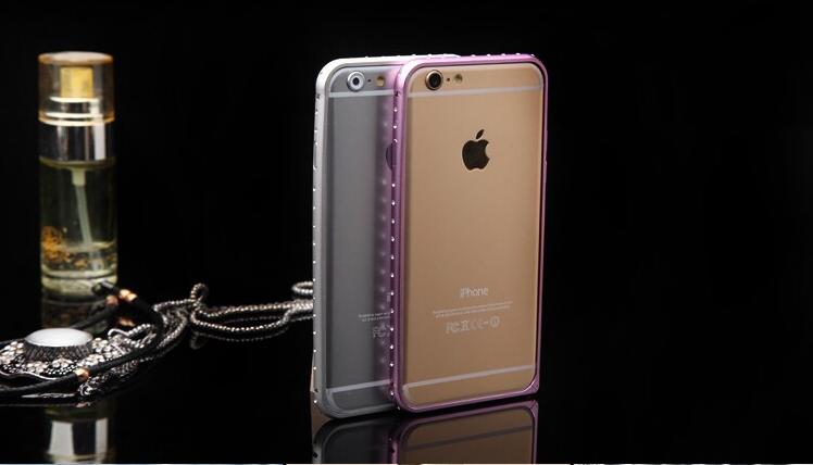 Рамка для iPhone 5 6 6 plus с блестящими стразами