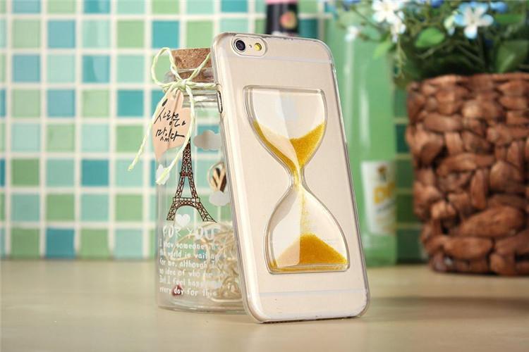 Чехол в виде песочных часов для iPhone 6 - желтый цвет