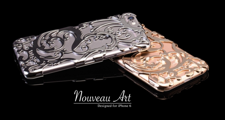 Художественный Nouveau ART iPhone 6 чехол серебряный и золотой