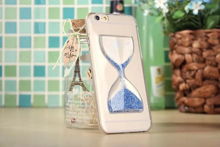 Чехол в виде песочных часов для iPhone 6 - синий цвет
