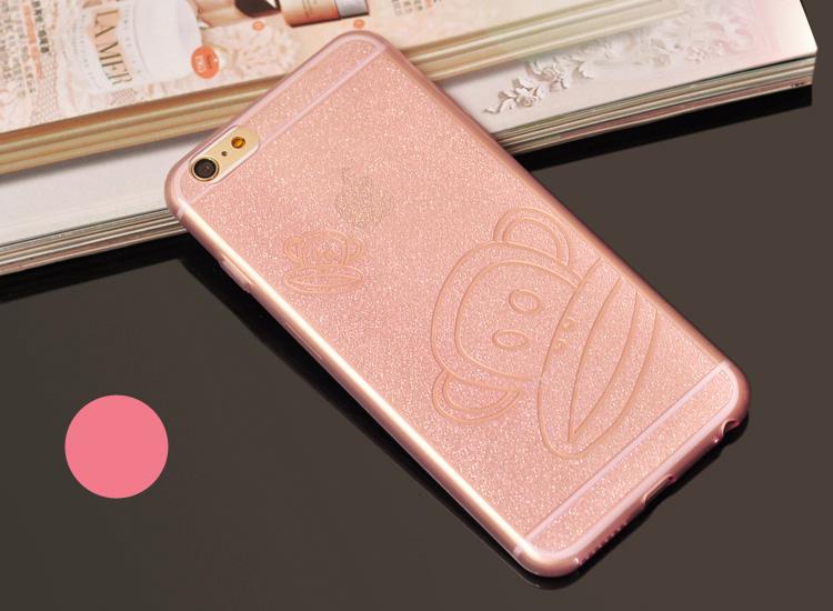 Чехол для iPhone 6, 6plus с иллюстрациями различных мультфильмов розовая обезьянка