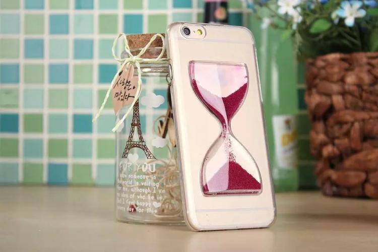 Чехол в виде песочных часов для iPhone 6 - сиреневый