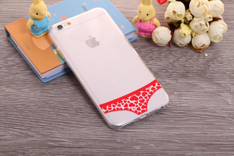 Чехлы трусики для iPhone 6 plus красное сердечко женские