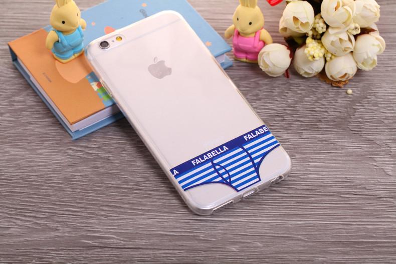 Чехлы трусики для iPhone 6 plus голубые полосатые мужские