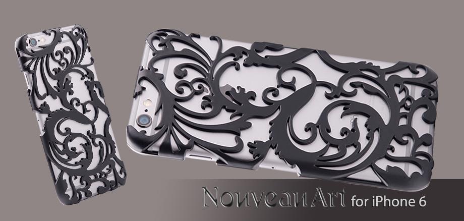 Художественный Nouveau ART iPhone 6 чехол черный стиль