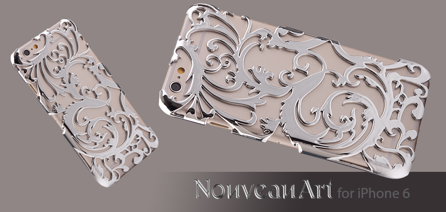 Художественный Nouveau ART iPhone 6 чехол серебряный стиль