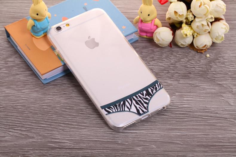 Чехлы трусики для iPhone 6 plus зебра женские