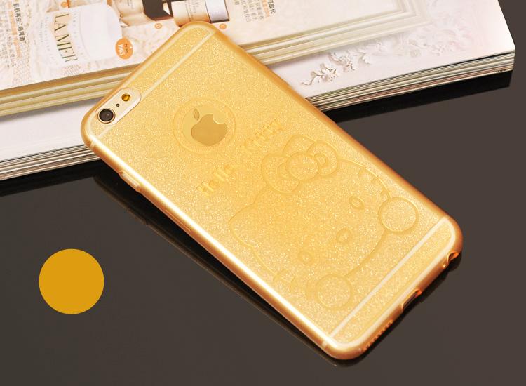 Чехол для iPhone 6, 6plus с иллюстрациями Hello Kitty оранжевый цвет