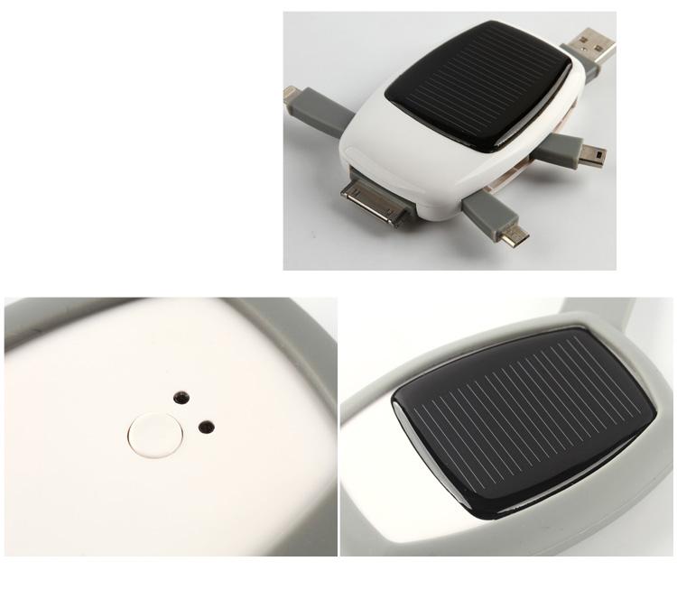 Зарядное устройство XD Design Nab на солнечных батареях различные ракурсы