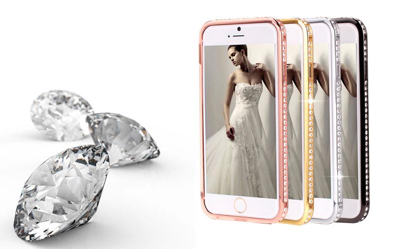 Бампер для iPhone со стразами сваровски разных цветов