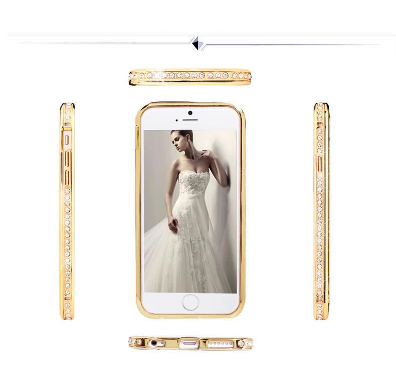 Бампер для iPhone со стразами сваровски разных цветов просмотр со всех сторон