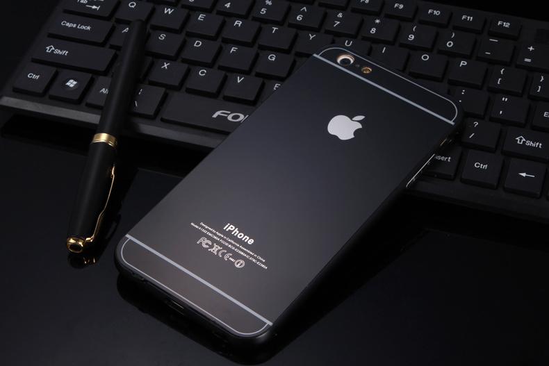 Чехол бампер с крышкой iPhone 5,6 черный цвет