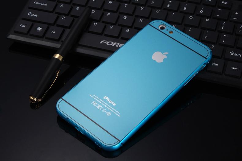 Чехол бампер с крышкой iPhone 5,6 голубой цвет