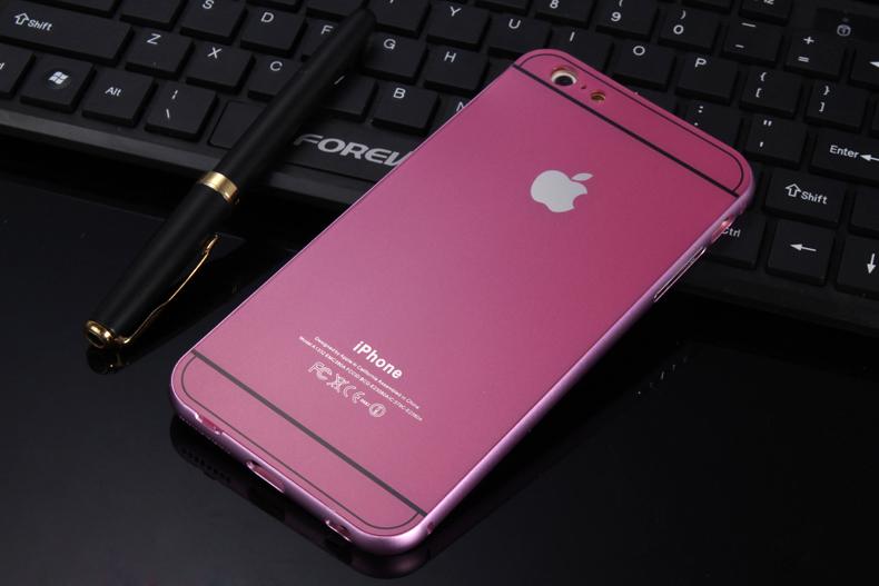 Чехол бампер с крышкой iPhone 5,6 розовый цвет