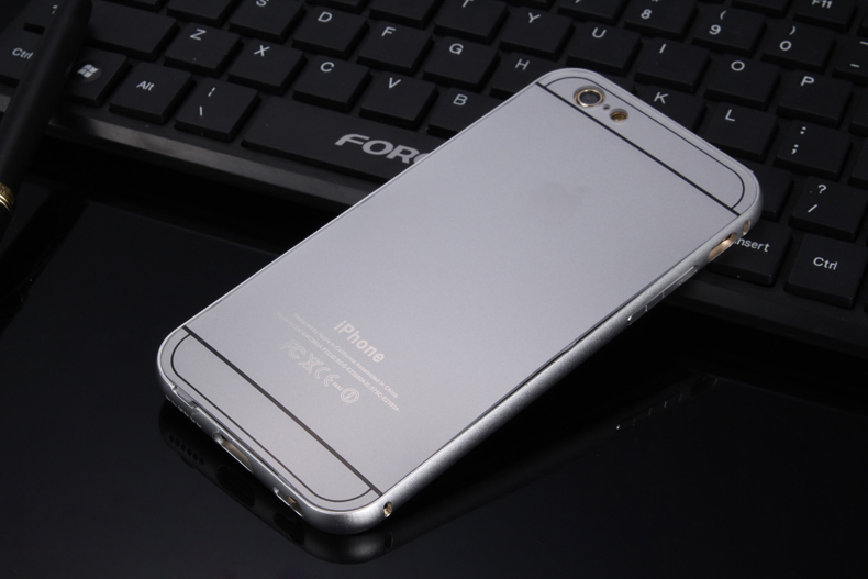 Чехол бампер с крышкой iPhone 5,6 серебряный цвет