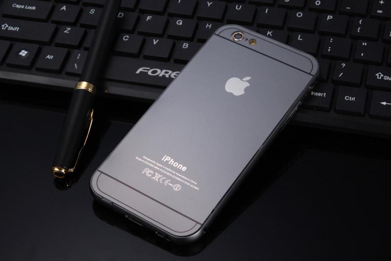 Чехол бампер с крышкой iPhone 5,6 серый цвет