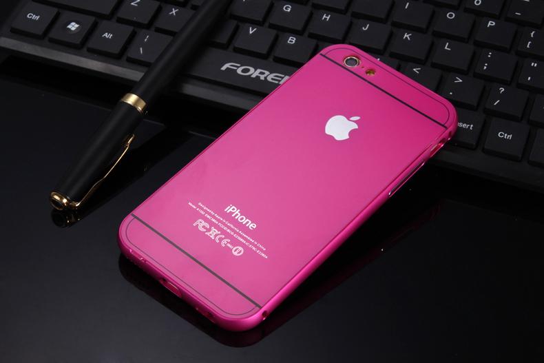 Чехол бампер с крышкой iPhone 5,6 сиреневый цвет