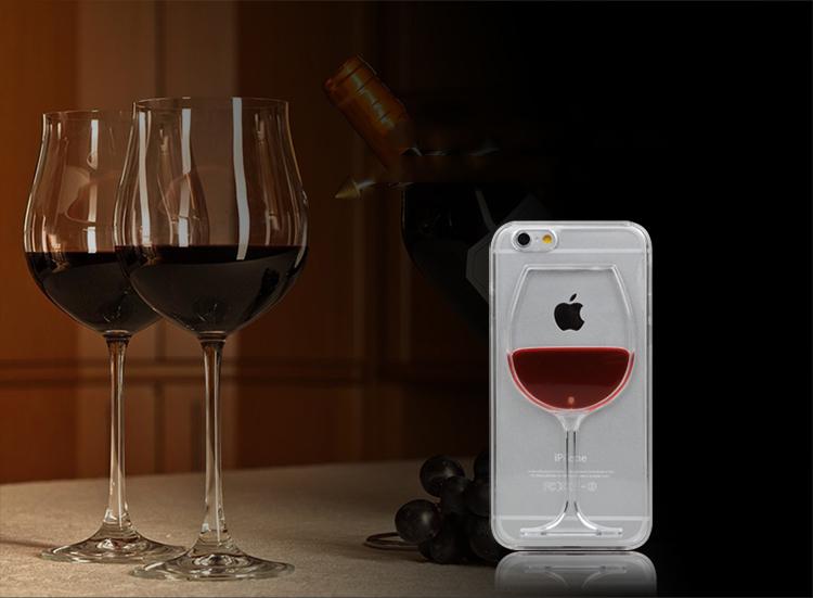Чехол для iPhone 6, 6plus в виде бокала вина и кружки пива.