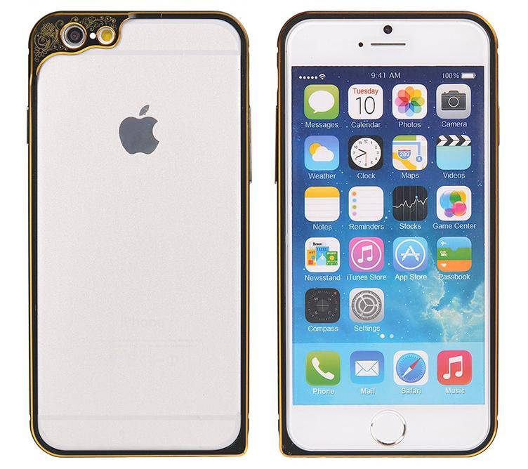 Бампер для iPhone 6 и 6plus с защитой камеры - черный бампер