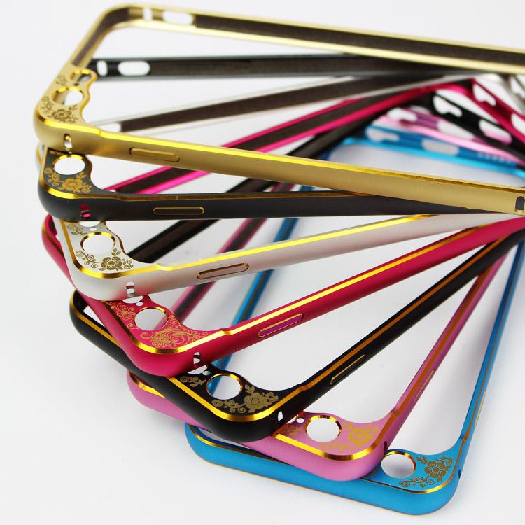 Бампер для iPhone 6 и 6plus с защитой камеры - сразу несколько цветов бампера, разложенные веером