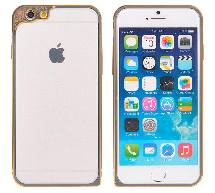 Бампер для iPhone 6 и 6plus с защитой камеры - бампер серый
