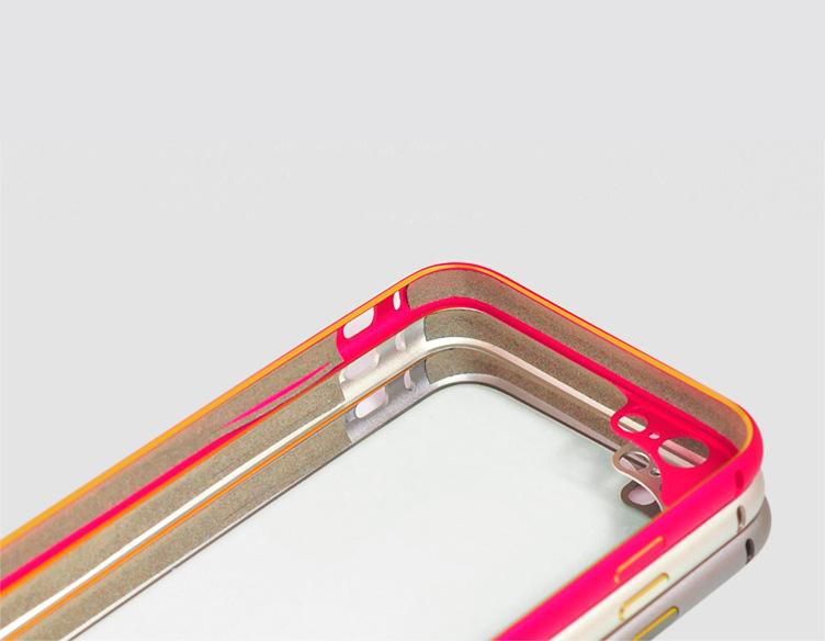 Бампер для iPhone 6 и 6plus с защитой камеры - три бампера сложенные вместе