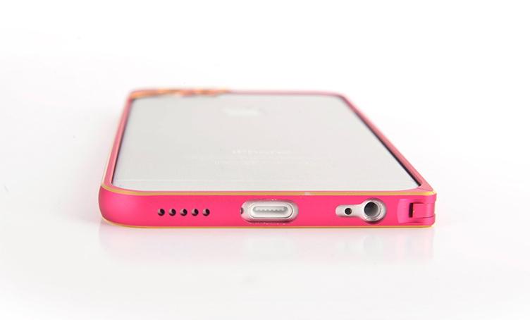 Бампер для iPhone 6 и 6plus с защитой камеры - просмотр с верхней стороны